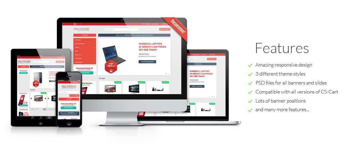 Multistore CS-Cart Responsive Theme