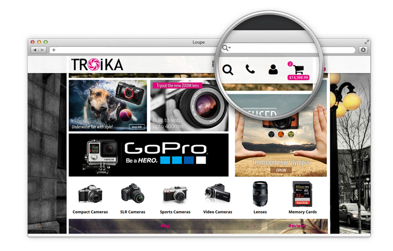 Troika sticky icons