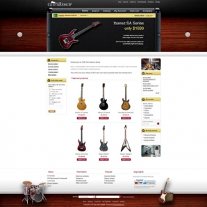 CS-Cart Guitar Store Template