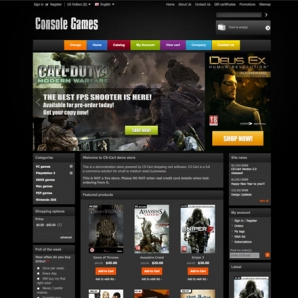 CS-Cart Video Games Template