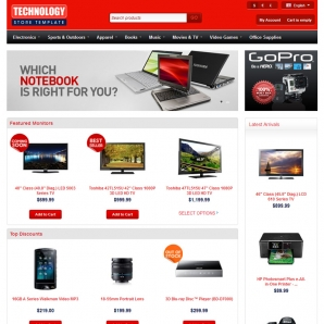 CS-Cart v4 Technostore Template