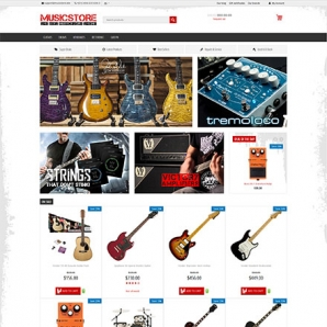 CS-Cart 4 Musicstore Responsive Template