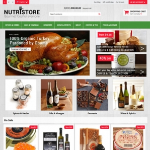 CS-Cart 4 Nutristore Responsive Template