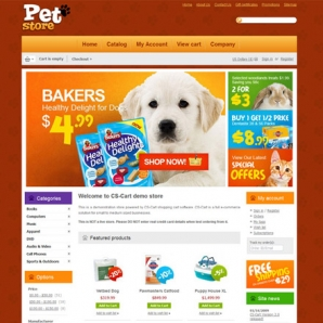 CS-Cart Pet Store Template
