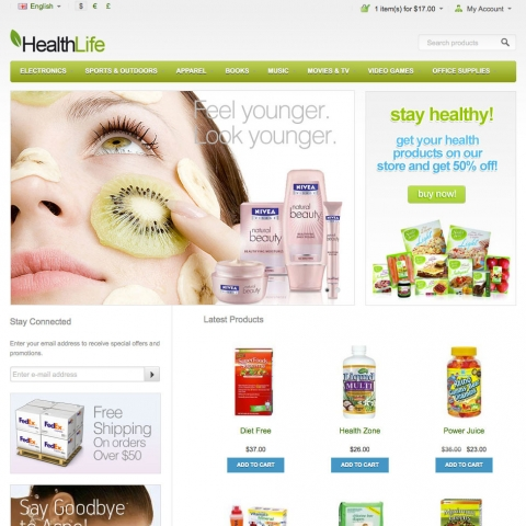 CS-Cart Health Store Template