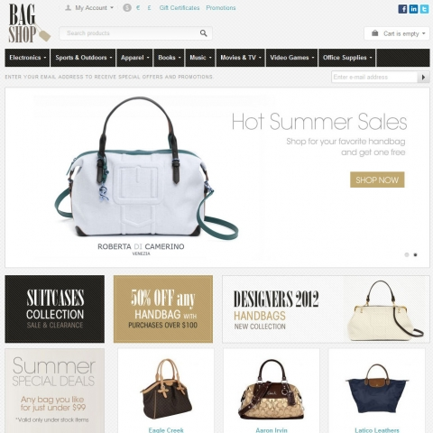 CS-Cart Bags Shop Template v3