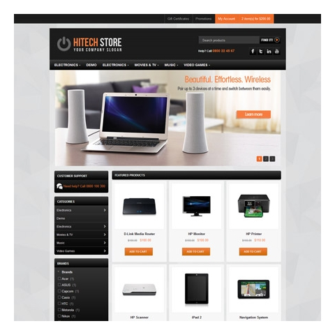 CS-Cart 4 HiTech Responsive Template
