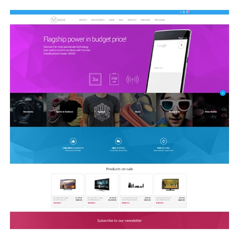 CS-Cart 4 Material Responsive Template
