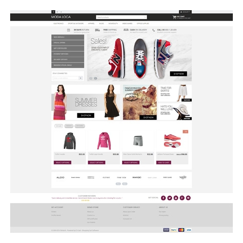 CS-Cart 4 Moda Loca Responsive Template